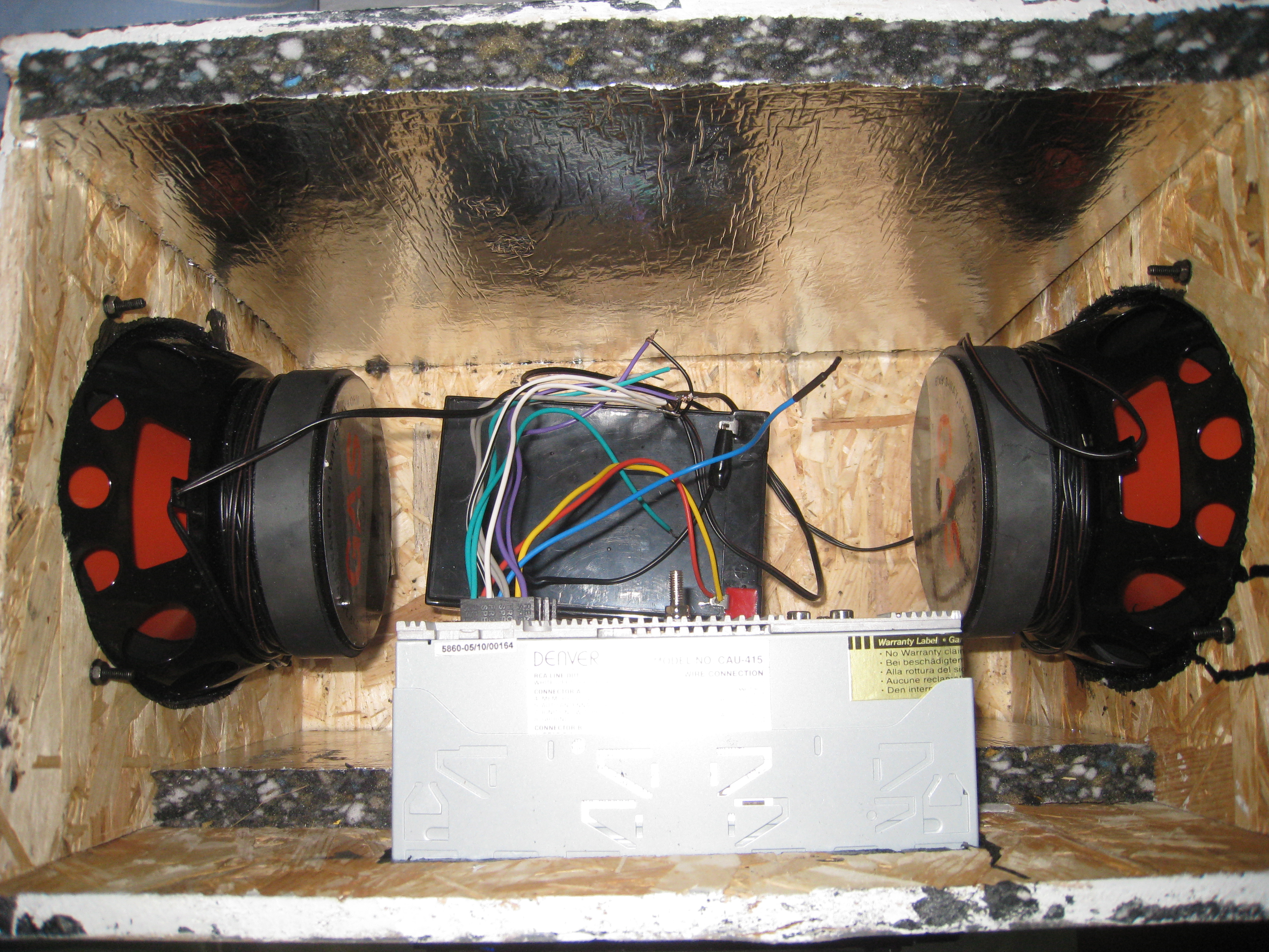Interior picture of boombox